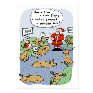 """Fleece Navidad"" Funny Christmas Cartoon Postcard"