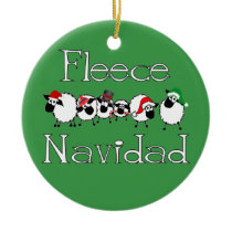 Fleece Navidad Funny Christmas Ornament