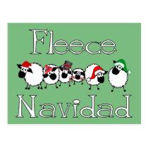 Fleece Navidad Funny Christmas Postcard