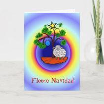 Fleece Navidad Funny Sheep Christmas Card