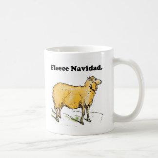 Fleece Navidad Golden Christmas Sheep Cartoon Coffee Mug