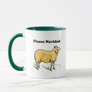 Fleece Navidad Golden Christmas Sheep Cartoon Mug