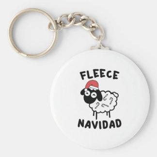 Fleece Navidad Keychain
