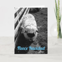 Fleece Navidad Sheep Christmas Card