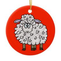 Fleece Navidad Sheep Christmas Ornament