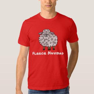 Fleece Navidad Sheep Christmas T-shirt