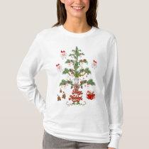 Fleece Navidad Sheep Christmas Tree T-Shirt