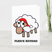Fleece Navidad  - Sheepish Christmas Card