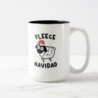 Fleece Navidad Two-Tone Coffee Mug