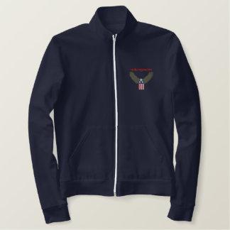 Fleece Patriotic Jogger Embroidered Jacket