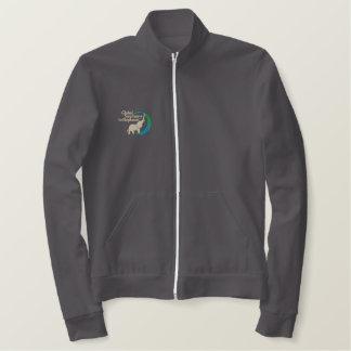 Fleece track jacket in maroon