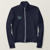 Fleece track jacket in navy