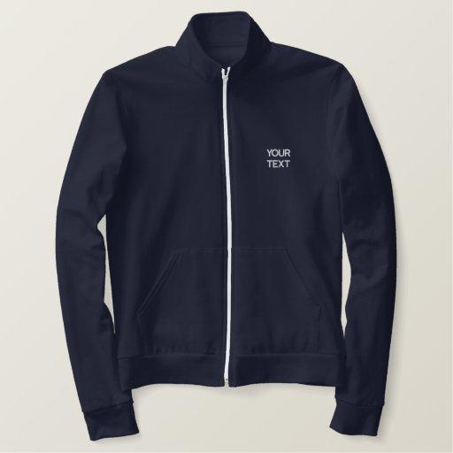 Fleece Track Jacket Navy Blue Template