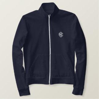 Fleece Zip Jogger Jacket Navy Blue Monogram
