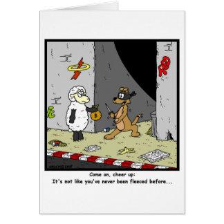 Fleeced: Sheep Cartoon Card