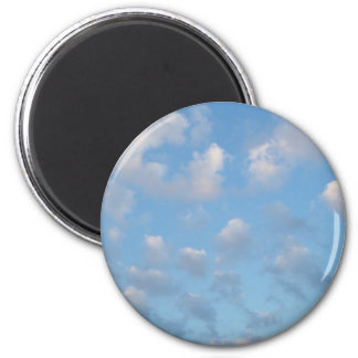 """""""Fleecy clouds """" 2 Inch Round Magnet"""