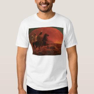 Fleeing a Prairie Fire (1868A) T Shirt