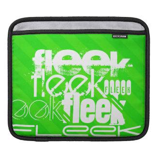 Fleek; Neon Green Stripes Sleeve For iPads