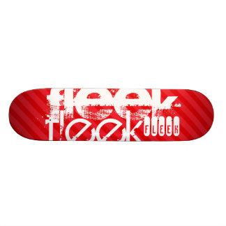 Fleek; Scarlet Red Stripes Skateboard