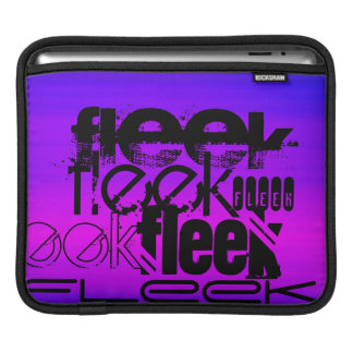 Fleek; Vibrant Violet Blue and Magenta iPad Sleeve