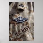 Fleet Marine Force Warfare device pin Posters