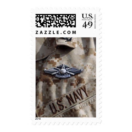 Fleet Marine Force Warfare device pin Stamp