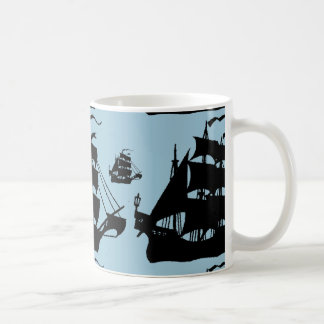 FLEET OF PIRATE SHIPS COFFEE MUG