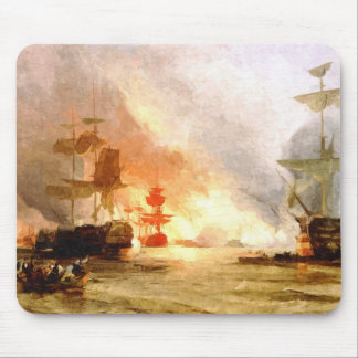 Fleet of sailing ships mouse pad