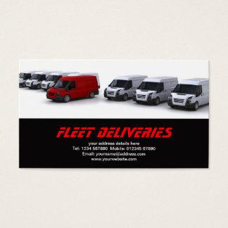 Fleet of vans business card