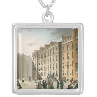 Fleet Prison from Ackermann's Silver Plated Necklace