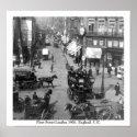 Fleet Street, 1901 London print