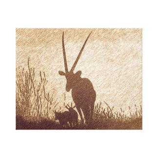 Fleeting moments of the Savanna Grasslands Canvas Print