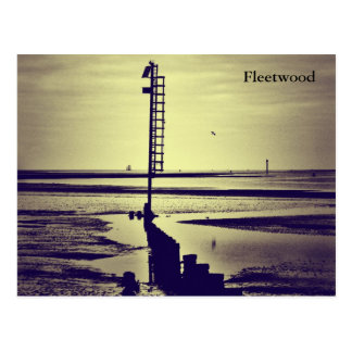 Fleetwood Beach & Wyre Light Postcard