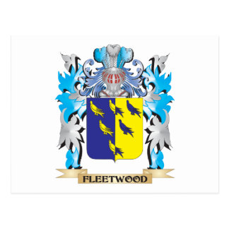 Fleetwood Coat of Arms - Family Crest Postcards