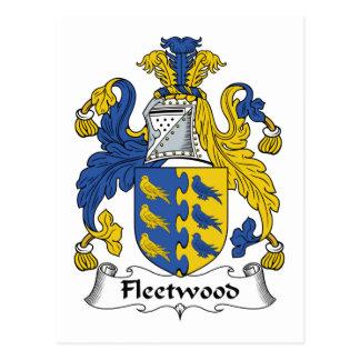 Fleetwood Family Crest Postcard