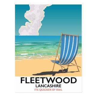 Fleetwood , Lancashire Seaside travel poster Postcard