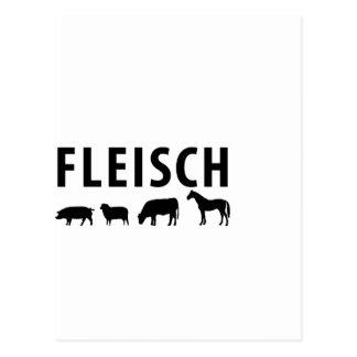 Fleisch icon postcard