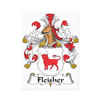 Fleisher Family Crest Stretched Canvas Prints