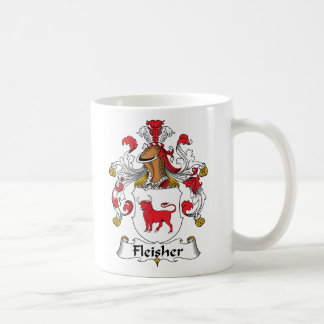 Fleisher Family Crest Classic White Coffee Mug