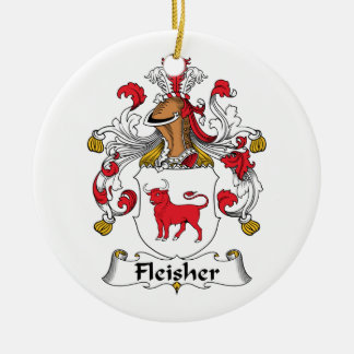Fleisher Family Crest Christmas Ornaments
