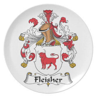 Fleisher Family Crest Party Plates