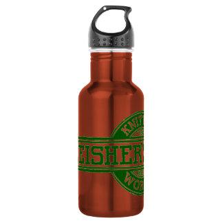 Fleisher's Yarn logo Stainless Steel Water Bottle