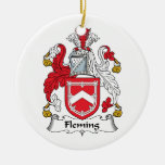 Fleming Family Crest Christmas Ornaments