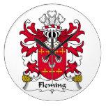 Fleming Family Crest Clocks