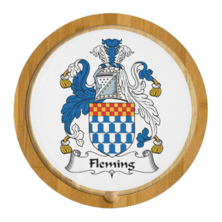 Fleming Family Crest Round Cheese Board