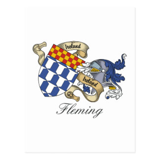 Fleming Family Crest Post Card