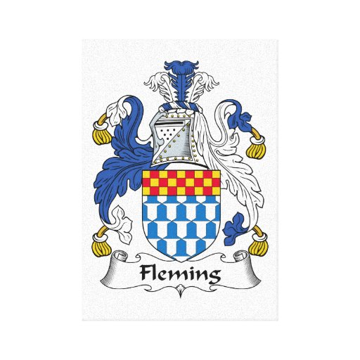 Fleming Family Crest Stretched Canvas Prints