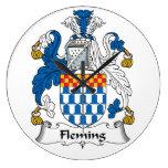 Fleming Family Crest Wall Clocks