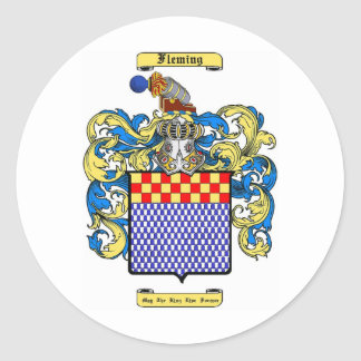 Fleming (irish) classic round sticker