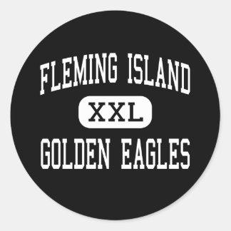 FLEMING ISLAND - GOLDEN EAGLES - Orange Park Round Stickers